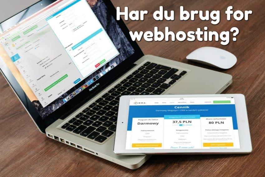 Har du brug for webhosting?